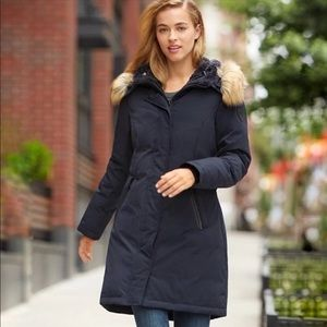 Vince camuto navy down parka